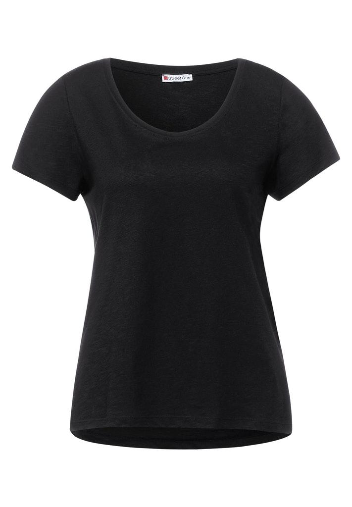 Street One Basic T-Shirt in Unifarbe